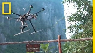 Crashing a Camera Copter in China's Grand Canyon | National Geographic