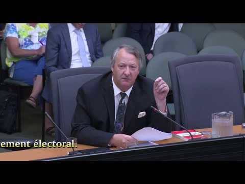 Presentation by Greg Vezina before the Standing Committee on General Government regarding Bill 201