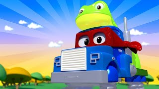 Супер лягушка спасает малышей - Трансформер Карл в Автомобильный Город 🚚 ⍟ детский мультфильм