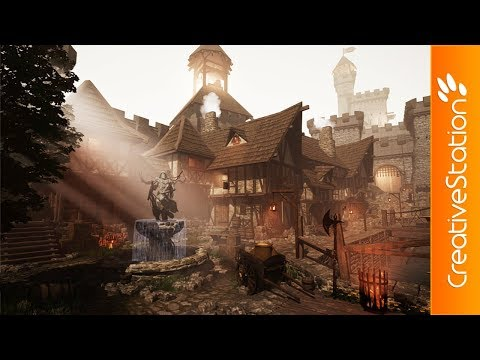 Medieval Center - 3D Speed art (#UnrealEngine4) | CreativeStation