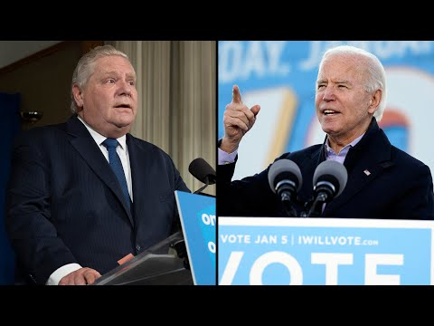 Doug Ford makes public appeal to Joe Biden: 'Give us a million vaccines'