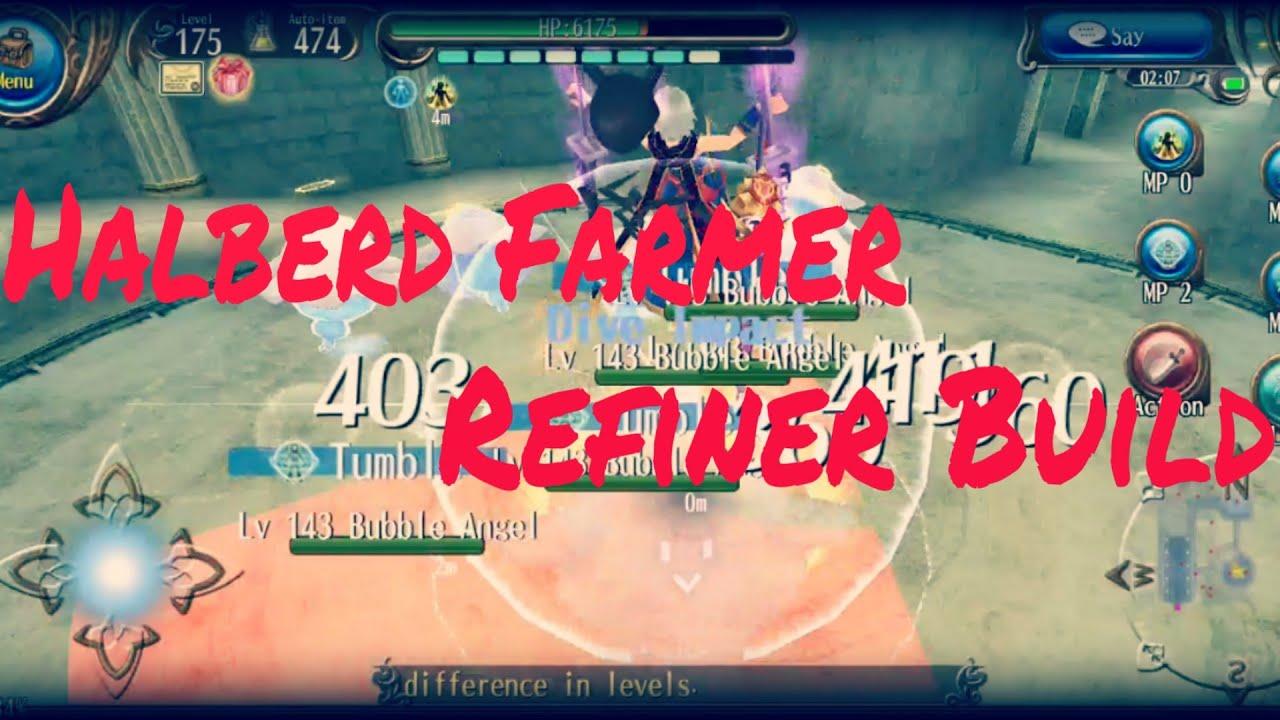 Toram Online - Level 175 Halberd Farmer+Refine Build - Video - ViLOOK