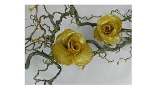 DIY: Как сделать розу из горячего клея. Мастер класс.