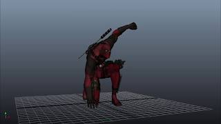 deadpool ||SD Animation #04 animation test deadpool superhero landing by satyaki.das