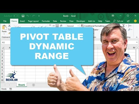 "Learn Excel - ""Dynamic Range for a Pivot Table"" - Podcast #1748"