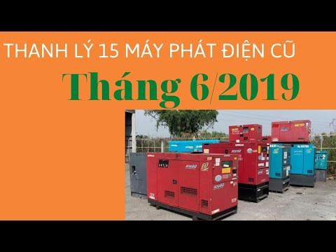 Cần thanh lý 15 máy phát điện cũ giá rẻ Tháng 6/2019