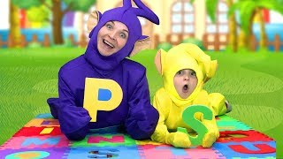 English alphabet with Nadia and Mom / ABC Song for kids