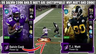 99 DALVIN COOK AND TJ WATT ARE UNSTOPPABLE! THEME BUILDERS 2 MVP DALVIN COOK AND TJ WATT | MADDEN 20