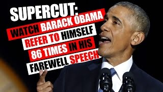 Obama refers to himself 86 TIMES in farewell speech!