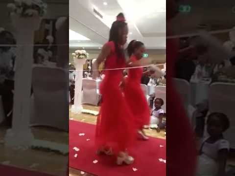 African girls dancing at the wedding thumbnail