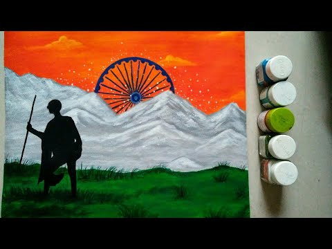 How To Draw Republic Day Drawing Easy    Independence Day Drawing    Republic Day Scenery   