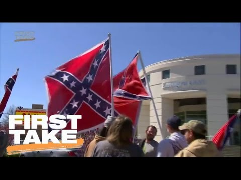 Stephen A. Reacts To Confederate Flag | First Take | March 20, 2017