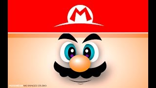 Draw Super Mario Background Face In Illustrator.