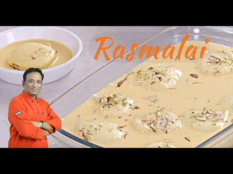 Rasmalai Recipe Video by Vahchef - Rasmalai Recipe with home made soft Paneer- Cottage cheese