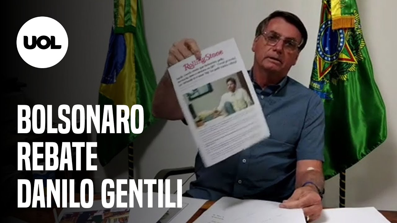 BOLSONARO NEGA TER PROCURADO SBT PARA PEDIR DEMISSÃO DE DANILO GENTILI - online