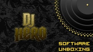DJ Hero Software Unboxing (PS3)