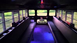 RS Limo Video Tour Blue Bird Party Bus