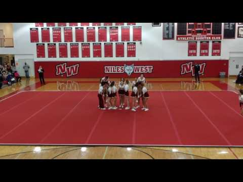 Loyola Academy Cheer at Niles West High School 2017