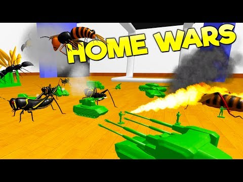 RAVENFIELD MEETS TOTAL TANK SIMULATOR? Battle GIANT Bugs With Green Army Men! - Home Wars Gameplay