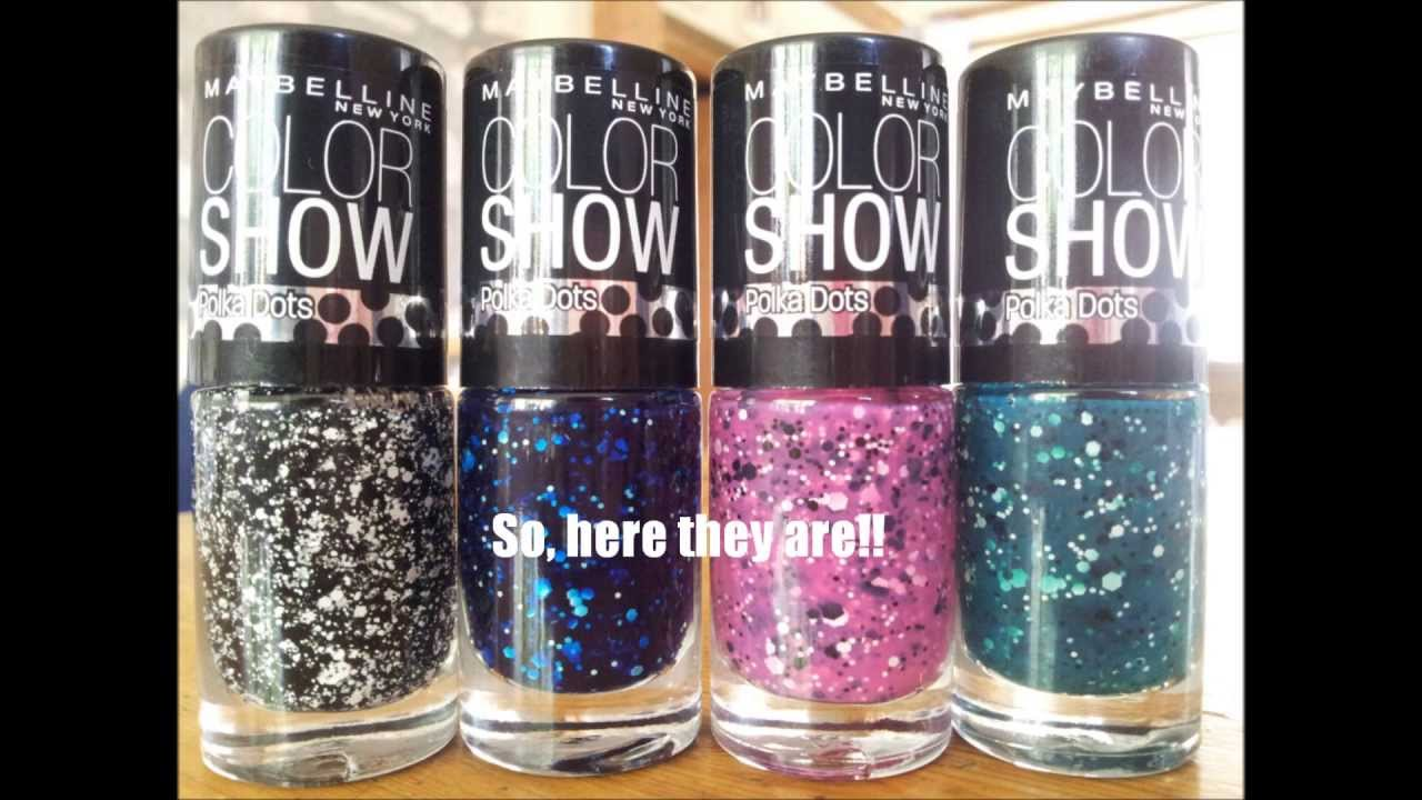 Maybelline New York Polka Dots Nail Polish Haul & Swatches - YouTube