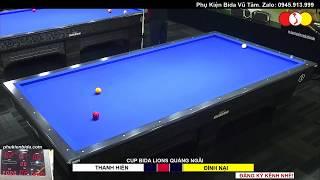 NGÔ ĐÌNH NẠI - HUỲNH THANH HIỀN. Giải Billiards Carom 3 Băng Quảng Ngãi. Tranh Cup Lions