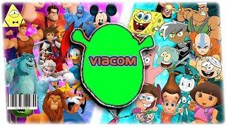 disney vs nick VIACOM EDITION! (Must watch   Viacom 1992 colorized)