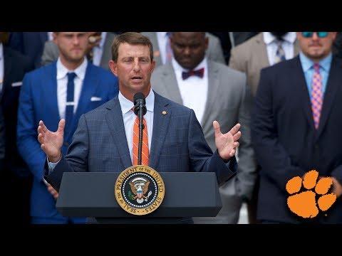 Dabo Swinney's Speech at Clemson's White House Visit