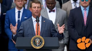 Dabo Swinney's Speech at Clemson's White House Visit