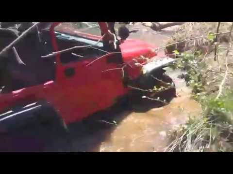 JEEP JKU, WRANGLER, CHEVY TRUCK RIVER CROSSING IN NORTH GA MOUNTAINS IN  JASPER GA !!!