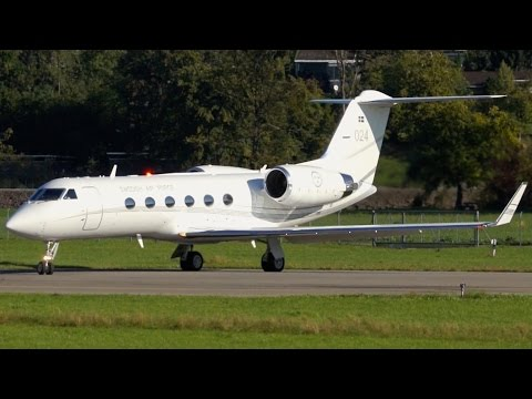 Swedish Air Force Gulfstream IV Take-Off at Bern