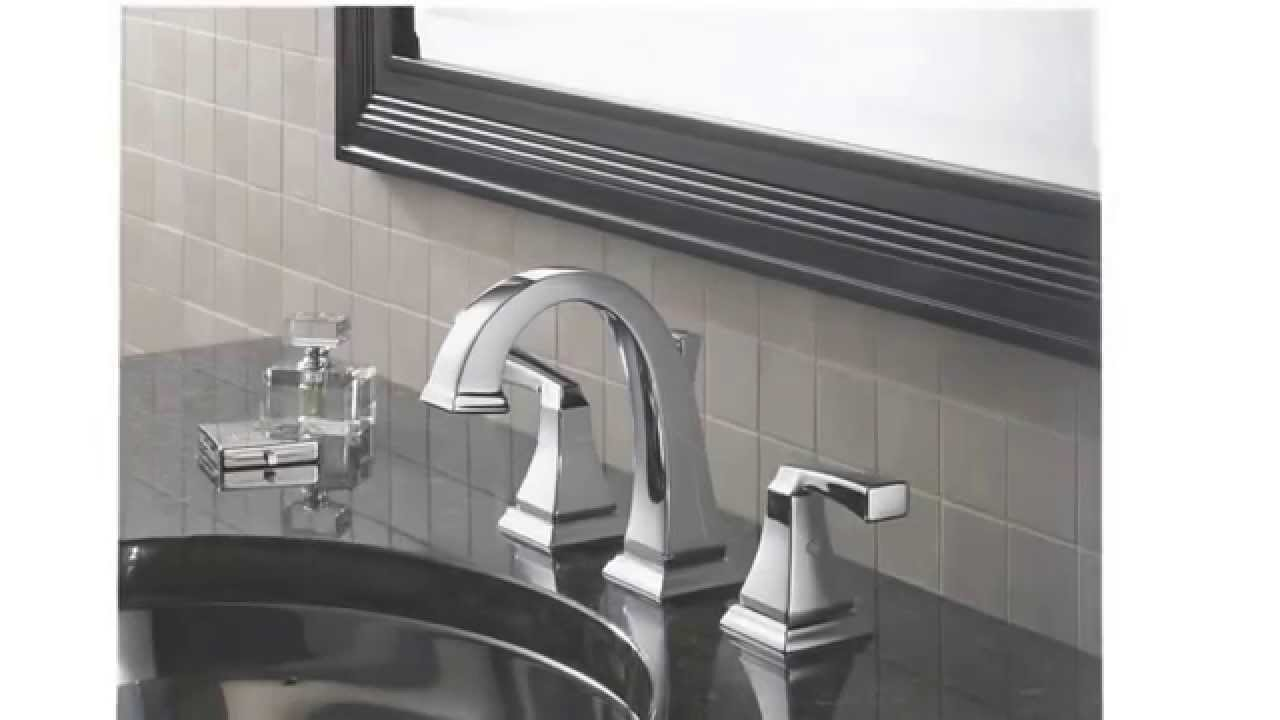 Delta Alux Spotshield Brushed Nickel 2 Handle Widespread: Delta 3551LF Dryden Two Handle Widespread Lavatory Faucet