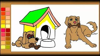 How to Draw Dog Coloring Pages for Kids - Part 2