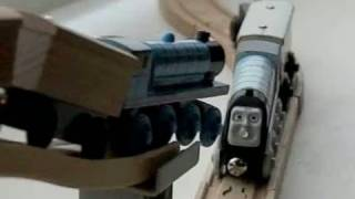 Thomas The Tank Engine, Spencer And Gordon Crash, 6 Times!, In Slow Motion!