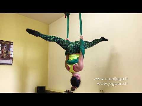 Joga Ore // Aerial yoga // Lesson 1 (CamíJoga ore su Kamile Šemiotaite)
