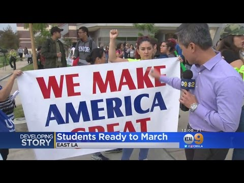 East LA College Students Prepare To March Peacefully
