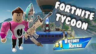 MY OWN FORTNITE WEAPONS FACTORY Roblox Battle Royale Tycoon