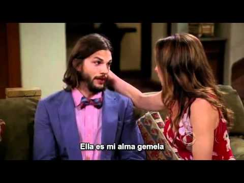 Two and a half men: Judith enojada con Walden. Sub en español