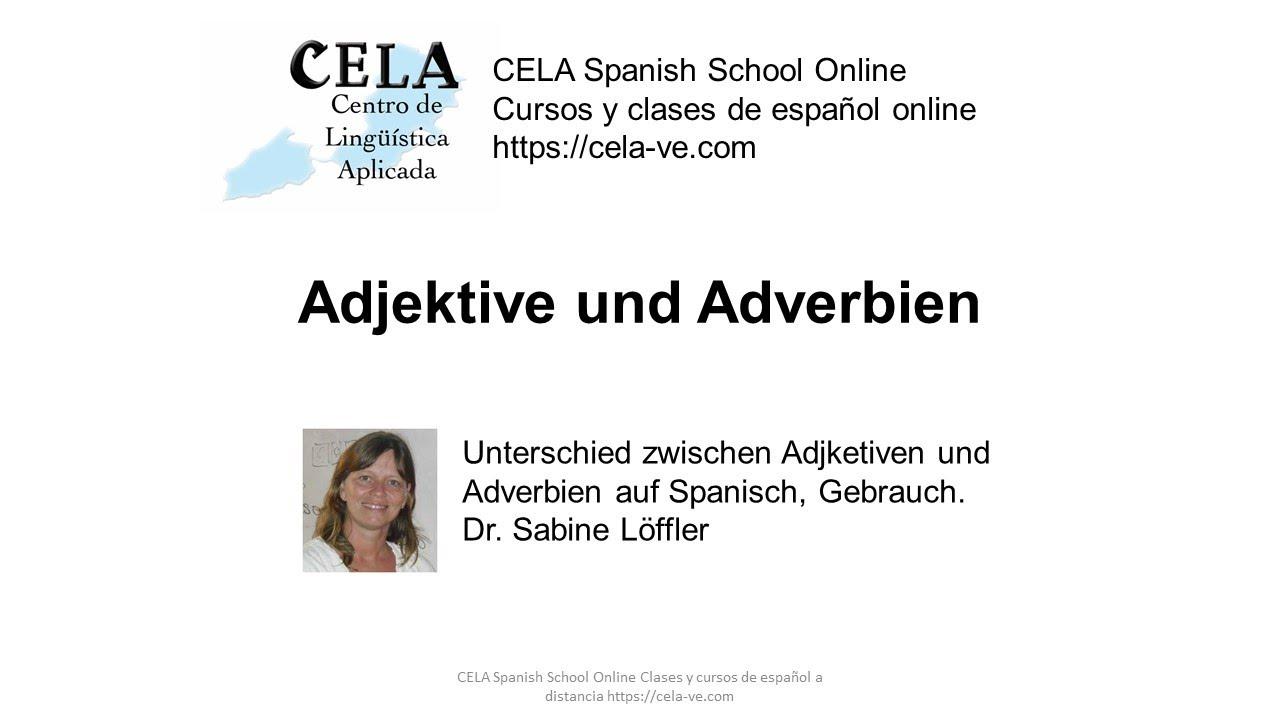 unterschied zwischen adjektiv und adverb
