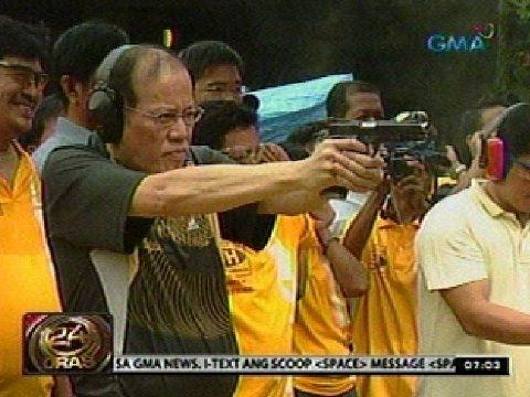 24 Oras:  Target shooting, isa raw sa mga paraan ni PNoy para makapag-relax
