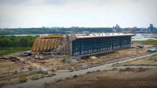 Стройка дворца водных видов спорта в Казани