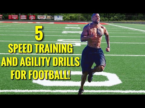 5 SPEED TRAINING AND AGILITY DRILLS FOR FOOTBALL!