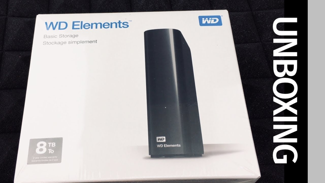 WD Elements 8TB USB 3 0 Desktop External Hard Drive UNBOXING