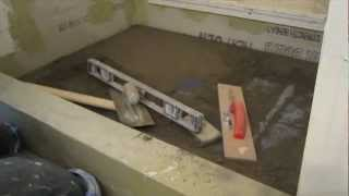 How to install   Mud in a shower floor