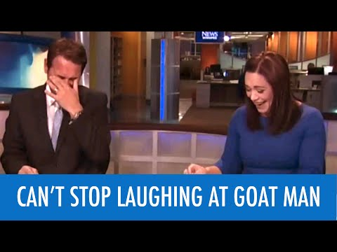 Thumbnail: TRY NOT TO LAUGH AT GOAT MAN ON LIVE TV