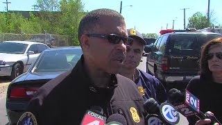 Detroit Police Chief James Craig speaks after barricaded gunman situation