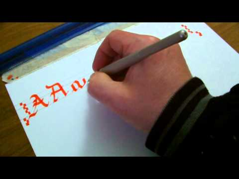 How To Draw Coloured Calligraphy Letters Using Pilot Parallel Pens