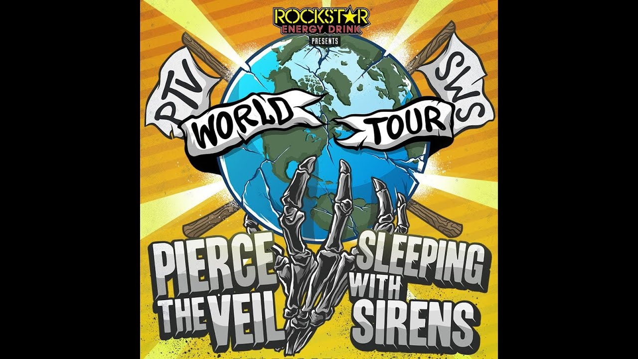 pierce the veil sleeping with sirens world tour 2015 all songs youtube