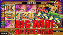 Mega Moolah Isis BIG WIN! - 80 Free Spins #megamoolah #megamoolahisis #jackpot
