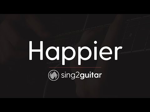 Happier (Acoustic Guitar Karaoke Instrumental ) Ed Sheeran