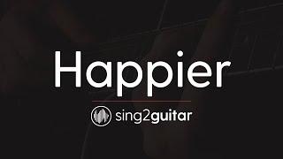 Happier (Acoustic Guitar Karaoke Instrumental ) Ed Sheeran